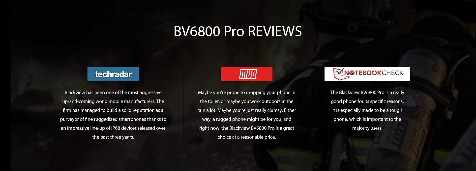 Blackview BV6800 Pro rugged phone